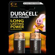 Duracell Plus Power C Batteries 2s (MN1400B2PP)